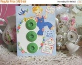 Store Closing SALE Vintage Ink Well Buttons-Green