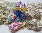 Vintage Millinery Forget Me Not Flower Bunches-Posies-60 bunches-Everything shown-Doll