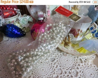 ON SALE Vintage Shiny Brite Glass Garland-NOS-Made in Japan-Original Package-Silver