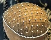 RESERVED Original 1920s Flapper Headpiece. Sparkling Rhinestone and Metal Headdress. Juliet Cap. Jazz Age. Wedding. Bridal.