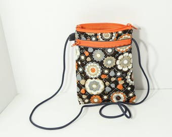 Chris smartphone wallet in Brown, Orange, and Gray