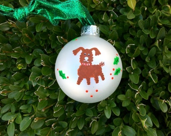 Poodle Ornament - Personalized Hand Painted Christmas Ornament - Dog Lover Personalized Bauble, Poodle Art, Personalized Pet, Vet Gift
