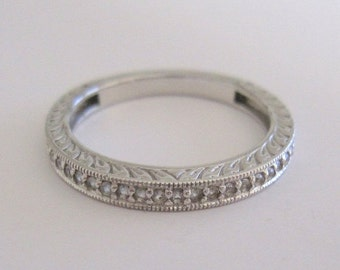 Holiday Sale 25% OFF Vintage Sterling Silver 925 Half Eternity Band Ring With Natural Zircon Stones Size 9