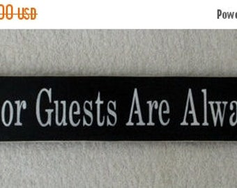 ON SALE TODAY Backdoor Guests Are Always Best Wooden Sign