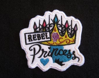 Embroidered Rebel Princess Crown Iron On Patch, Rebel Princess Patch, Iron ON Patch, Crown, Rebel Princess, Iron On Princess Patch