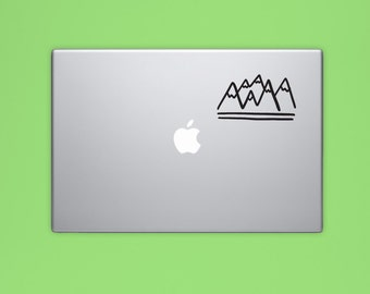 New! - MOUNTAINS VINYL DECAL, Rocky Mountains Vinyl Sticker, Adventure Laptop Decal, Computer Decal