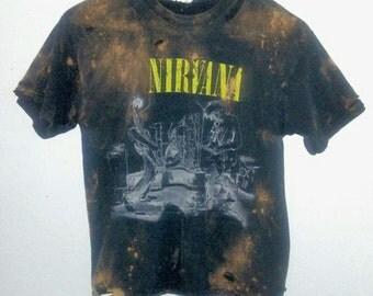 Nirvana TShirt / Nirvana Top / Band Shirt / Graphic Tee / Distressed / 90s / 1990s Band / Boho / Indie / Grunge / Rock N Roll / Grungy Tee