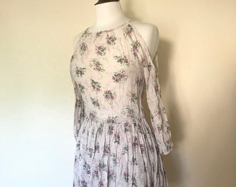 Open shoulder hippie peasant sun dress sz XS to Small