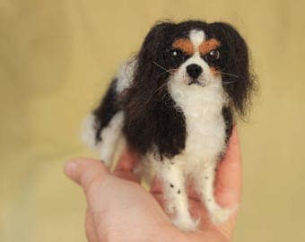 Made to order custom needle felted dog, memorial, portrait, wool sculpture, 6-8 month turnaround time