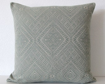 Nate Berkus Santa Maria Mineral Green global ethnic diamond designer pillow cover