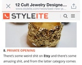Christmas SALE As seen on Styleite.com and Fab.com Nest Ring ON SALE