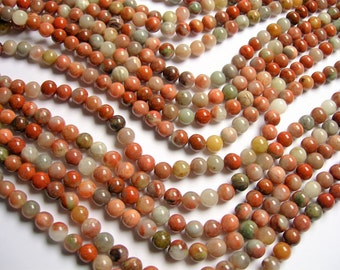 Dolomite  - 8mm  round beads - 1 full strand - 50 beads - RFG1124