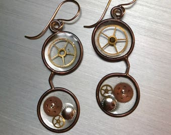 Steampunk Mini Eyeglass Earrings