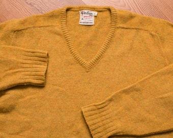 Indian Brand Shetland Wool V-Neck Sweater, Sportswear Shirt, Vintage 60s-70s, Debonair Hipster Apparel