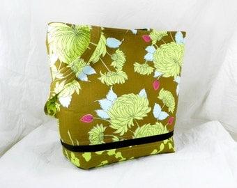 Medium Tote Bag, Large Amy Butler Bag, Shoulder Bag, Belle Fabric, Book Bag, Work Tote, Carry All