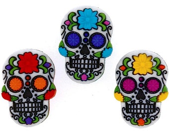Buttons Jesse James Button Sugar Skulls Skull Sewing Buttons Crafts