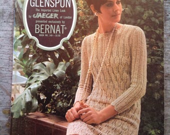Vintage 1967 Glenspun Bernat Yarn Knitting Pattern Book 149