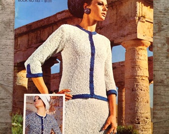 Vintage 1967  Bernat Yarn Knitting Pattern Book 143