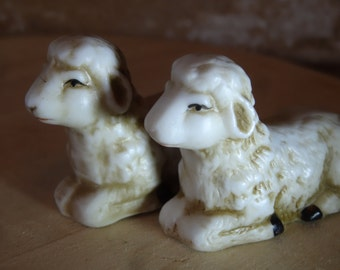 Vintage Sheep Pair Nativity Replacement or Your Private Collection