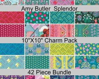 """SALE - Splendor - Amy Butler - Charm Pack - 10"""" x 10"""" Layer Cake Squares - 42 PIECE BUNDLE - Cotton"""