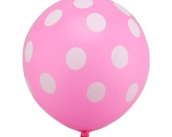 10 polka dot balloons