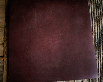Raw Leather/Cow Hide - 6oz. Material - Maroon MINIMUM ORDER OF 3