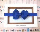 Royal Blue Baby headband, baby girl headband, newborn headband, toddler headband,Baby Girl Bow Headband,Baby Hair Bow, Baby Head Band