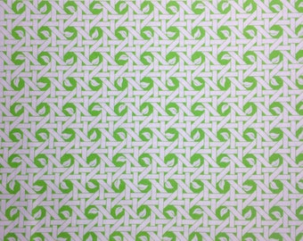 Tula Pink Nest basket weave green white moda fabric FQ or more OOP HTF