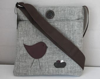 Tote: Leather Mother and Babies in a Nest!!