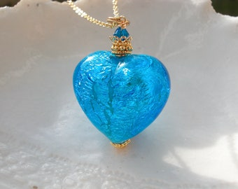 Blue Murano Glass Necklace, Exclusive