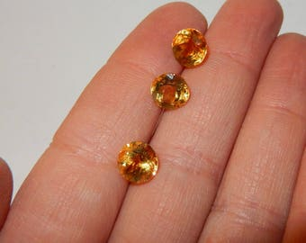 Citrine - faceted 8mm round