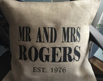 Personalised Wedding Cushion Covers
