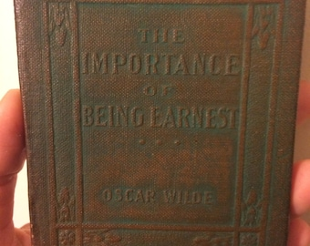The Importance of Being Ernest by Oscar Wilde - Miniature Book Little Leather Library 1920s Antique Vintage