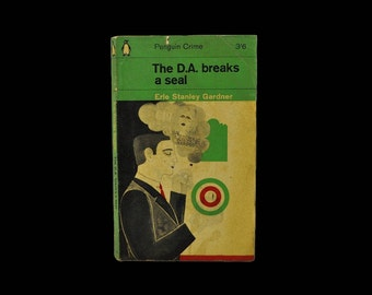 1964 Penguin Paperback. The D.A. Breaks a Seal. Erle Stanley Gardner. Crime. Perry Mason. Vintage.