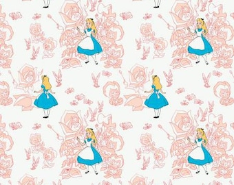 Camelot Disney Blush Golden Afternoon Toile Fabric - 1 yard