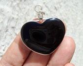 black heart black obsidian