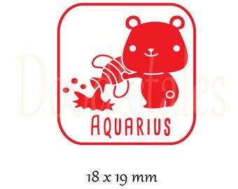 Horoscope Aquarius 2 (Rubber Stamp)