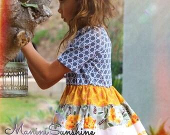 Knit Top Fall Short Sleeves Twirl Dress