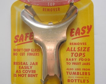 Pry-A-Lid - Jar, Tumbler, Bottle Top Remover - All Size Tops Jar Romover - Jar Opener - Made in USA