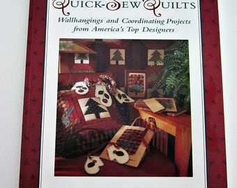 "Quilting Pattern Book, ""Quick Sew Quilts"", Best Loved Designers Collection, Lap Quilt, Home Decor Projects, Jacket, Mittens Pillows & More"
