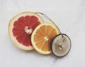 Grapefruit Citrus Scent Diffuser / Lemon Lime Orange / Reclaimed Wood / Air Freshener / Car Freshener / Essential Oil / Car Accessories