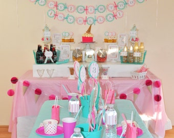 Ice Cream Birthday Banner, 1st Birthday, Sweet Shoppe, Vintage Ice Cream Parlour, Ice Cream Cone Party Decorations, Ice Cream Social, Sundae