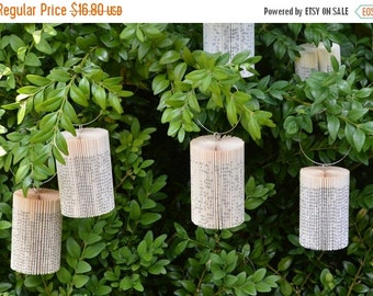 Christmas SALE Cylinder small - Christmas Decoration: folded Book Art hanging Ornament