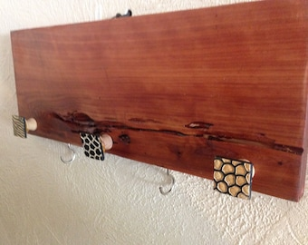 Jewelrey/Scarf Holder/Towel Holder:Made from  Red Cedar/5 Hooks/Gift Idea/Country Decor/Kitchen Towel Holder/FREE SHIPPING