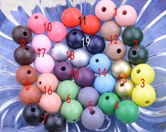 20pcs Assorted color Round Wood Beads, Painted wood bead, Round wooden bead, necklace bead, bracelet bead, Wholesale Round ball bead 25mm