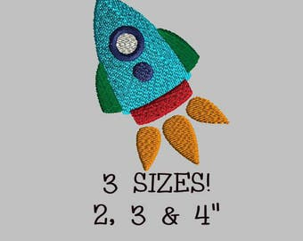 Buy 1 Get 1 Free! Rocket Ship Embroidery Design Rocket Embroidery Design Mini Rocket Embroidery Design Small Rocket Space Embroidery Design