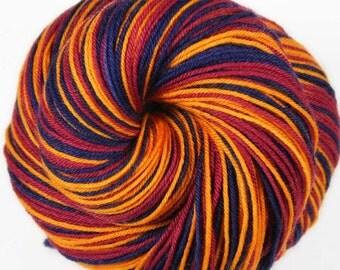 CAVALIERS Superwash Merino/Nylon self-striping fingering sock yarn
