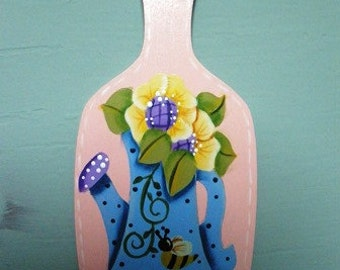 Water Can and Flowers Gardening Ornament