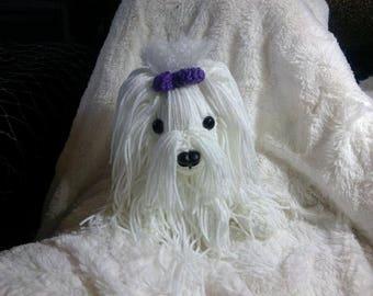 Crochet Maltese dog