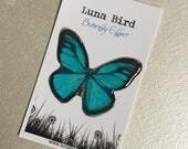 Butterfly Effect Brooch, Blue (BB3) by Luna Bird for the 1200 Butterfly Wall at Butterfly Effect Exhibition